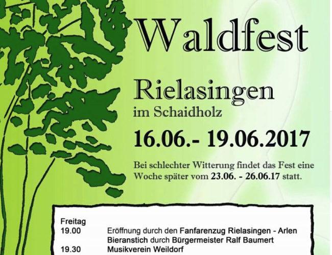 16.06.2017 Eröffnung Waldfest des Musikverein Rielasingen-Arlen....